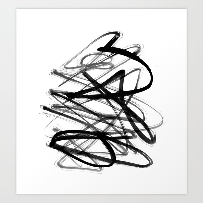 Modern Scribble Art Print By Themicromentalist
