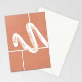 Moving through the bricks boho print Stationery Cards