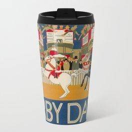 Vintage poster - Derby Day Travel Mug