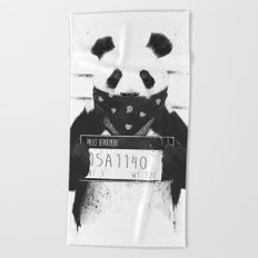 Bad panda Beach Towel