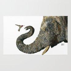 Elephant Cyril And Hummingbird Ayre 2 Rug