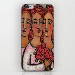 Trio Bridesmaids iPhone Skin