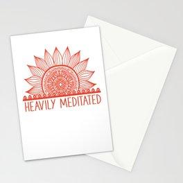 Heavily Meditated Namaste Meditation Yoga Gift Mandala Flower Stationery Cards