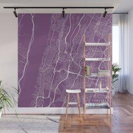 Yonkers Map, USA - Purple Wall Mural