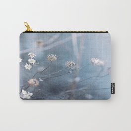 Dusty Fog Flowers Carry-All Pouch