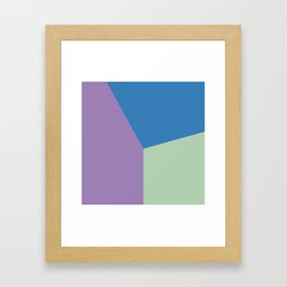 Color block #7 Framed Art Print