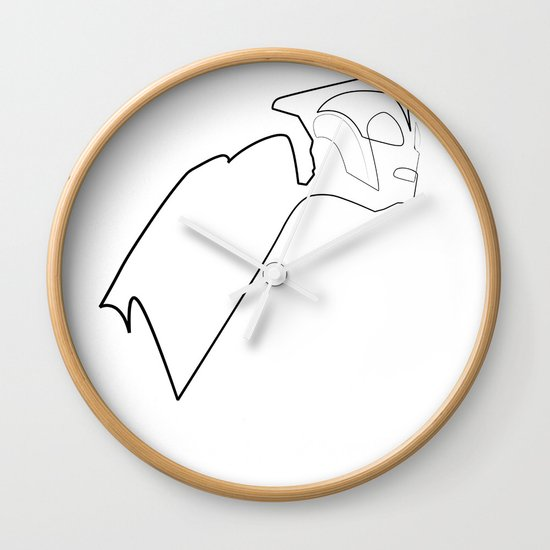 One line Rocketeer Wall Clock