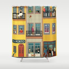 Porto Houses - Portugal Shower Curtain