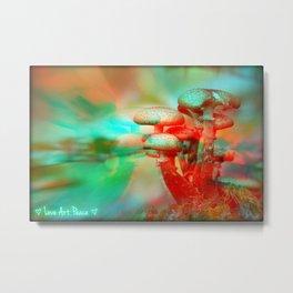 Hallucinatory Shrooms Metal Print