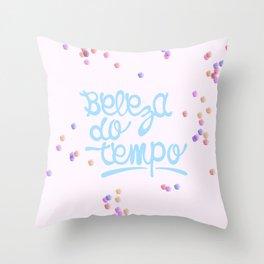 Beleza do tempo Throw Pillow