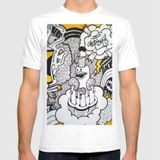 Born To Be Wild. Mens Fitted Tee White MEDIUM
