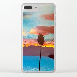 The Beautiful Key West Sun is captured in this ocean sunset painting Clear iPhone Case