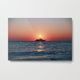 Cape May Sunset Cruise Metal Print