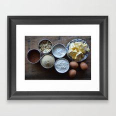 Cake ingredients Framed Art Print