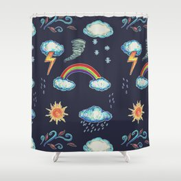 Blame It On The Weather-man Shower Curtain