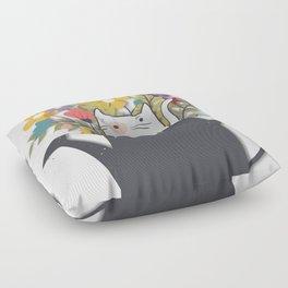 The Cat Is Back Floor Pillow