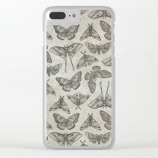 Lepidoptera Beige Clear iPhone Case