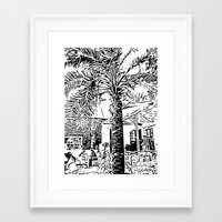 palm tree Framed Art Prints featuring Palm tree by ArteGo