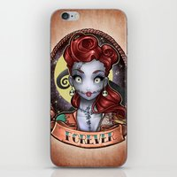pinup iPhone & iPod Skins featuring FOREVER pinup by Tim Shumate