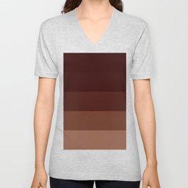 Brown Stripes Unisex V-Neck