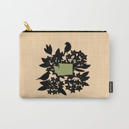Washington - State Papercut Print Carry-All Pouch