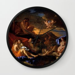 Acis and galatea - Poussin -1629 Wall Clock