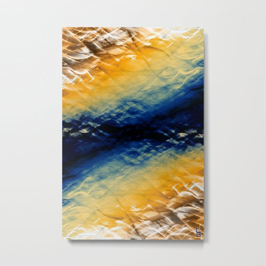 Tie-Dyed Waves Metal Print
