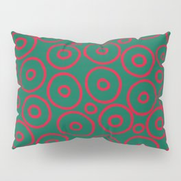 circles red and green Pillow Sham
