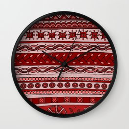 Yzor pattern 005 red Wall Clock