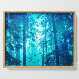 Blue Frost Woods Serving Tray