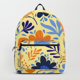 Floral Seamless Pattern Blue LilacYellow Backpack