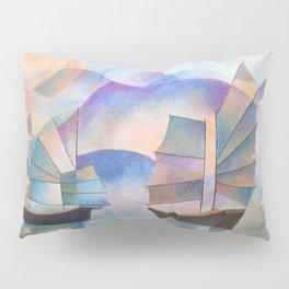 Shades of Tranquility - Cubist Junks Pillow Sham
