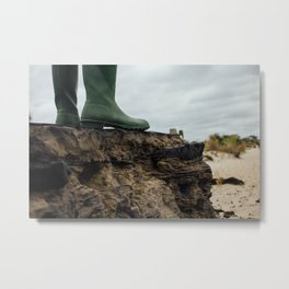 Where the Rubber Meets the Road Metal Print