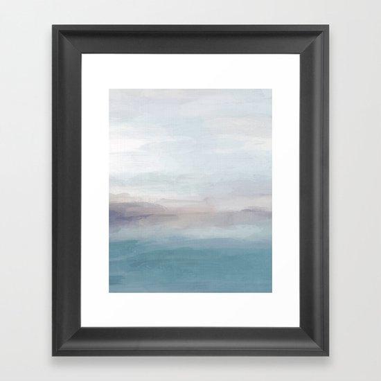 Light Gray, Mauve, Turquoise Aqua Blue Print Modern Wall Art, Abstract Painting by rachelelise