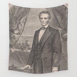 Vintage Abraham Lincoln Illustrative Portrait (1860) Wall Tapestry