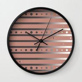 Silver Frame Wall Clock