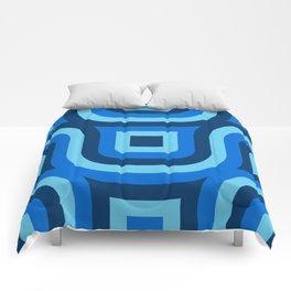 Blue Truchet Pattern Comforters