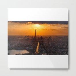 tianjin sunset Metal Print