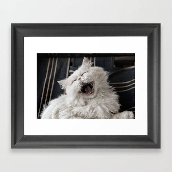 They say that NOTHING beats a good belly laugh! Framed Art Print
