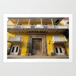 Cartegena Walled City Yellow Home Art Print
