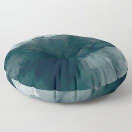 Dark Green Watercolor Marble Floor Pillow