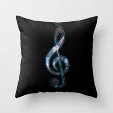 Cosmic Music Throw Pillow