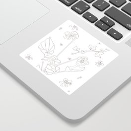 Flora of Friendship - Color or Paint Your Own! Sticker
