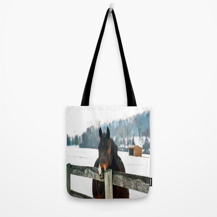 Thoughtful Horse Tote Bag