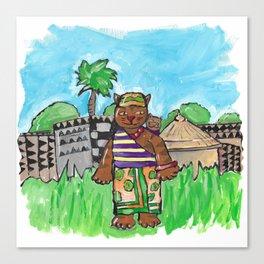 African Cat Canvas Print