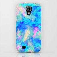 Samsung Galaxy S4 Case featuring Electrify Ice Blue by Amy Sia