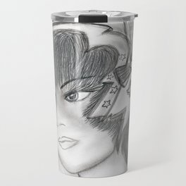 Starry Flapper in Black and White Travel Mug