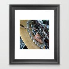 Leaf on a bike Framed Art Print