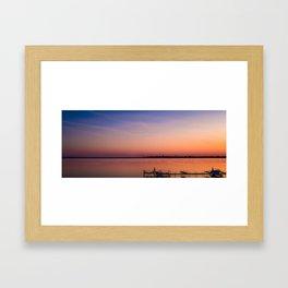 Serenity on Lake Monona Framed Art Print