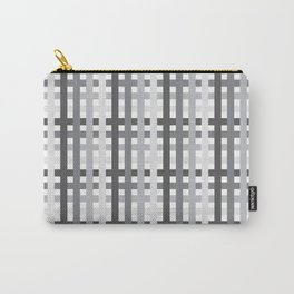 Gray Squares Carry-All Pouch
